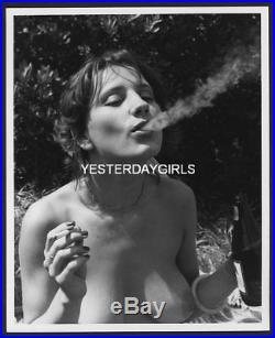 Ygst-0353 Original Vintage B/w 8x10 1960's Solo Art Posed Nude Best Smoking Ever