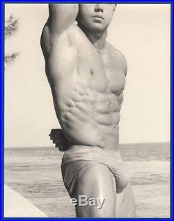 Young Man Shirtless Gay Interest Bodybuilder 1970's Original Vintage Photo H700